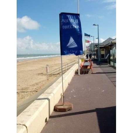 """Mât beach forme """"droit"""""""