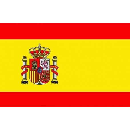 Drapeau Espagne avec écusson