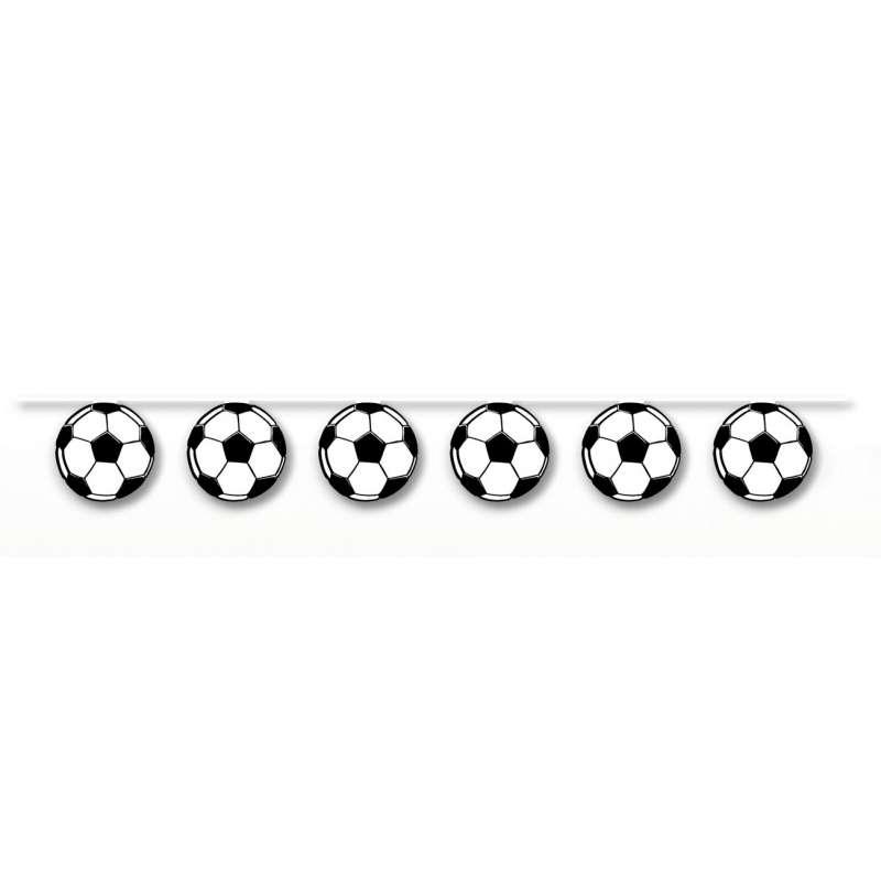 "Guirlande de décoration ""Ballons de foot"""