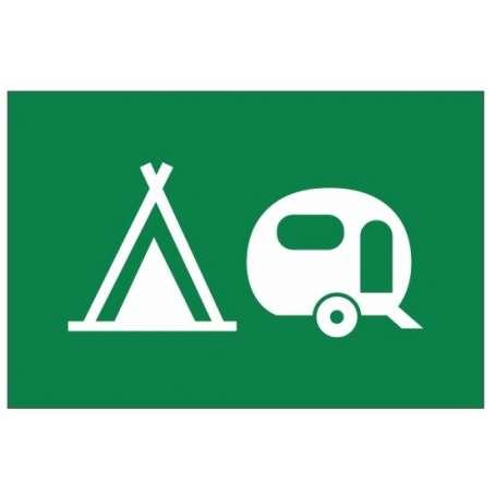 Drapeau de camping (Pavillon pour signaliser les emplacements tentes et caravane)