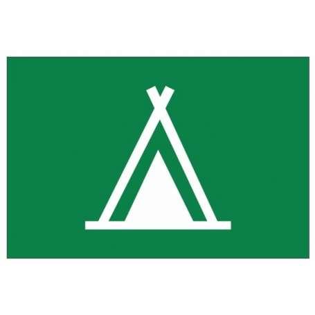 Drapeau de camping (Pavillon pour signaliser les campings avec des emplacements pour les Tentes)
