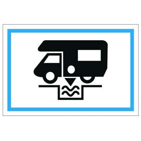 Drapeau de camping (Pavillon pour signaliser la possibilité de venir en Camping-car)