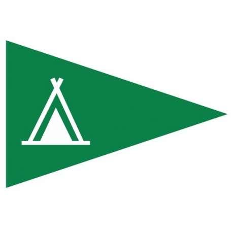 Flamme de camping (Drapeau triangulaire pour signaliser les emplacements pour les tentes)