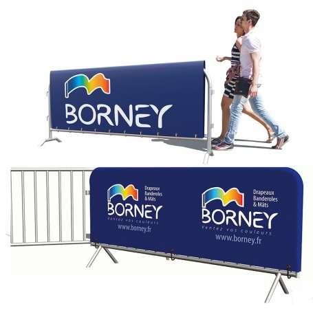 Habillage de barrière de sécurité.