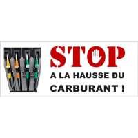 """Banderoles pour la manifestation """"Stop à la hausse du carburant """""""