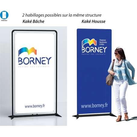 Stucture aluminium 2 en 1 pour affichage : «Kaké Bache» et «Kaké Housse»