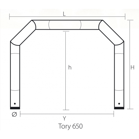 structure gonflable Tory