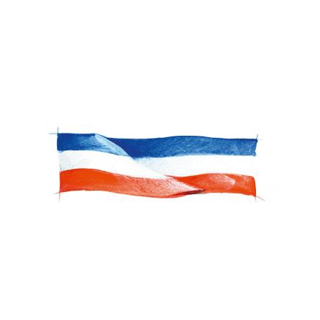 Lambrequin tricolore - nappe aux couleurs de la france bleu blanc rouge
