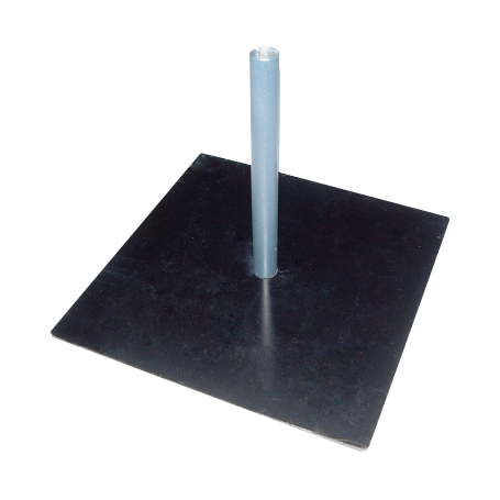Platine carrée  acier noir