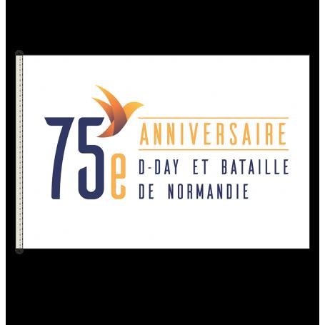 Pavillon / Drapeau du 75 e anniversaire du Débarquement et de la Bataille de Normandie.