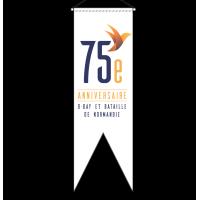 Oriflamme du 75 e anniversaire du Débarquement et de la Bataille de Normandie.