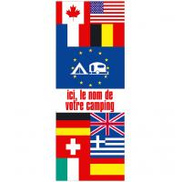 Pavillon multi-nations personnalisé