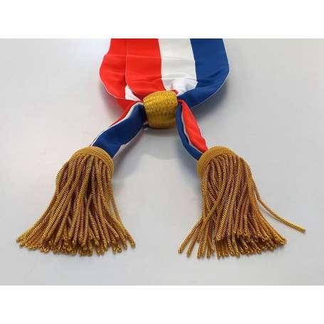 Écharpe tricolore officielle de maire, parlementaire, maire-adjoint