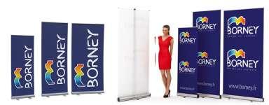 Enrouleurs aluminium - Roll-up pour kakémonos et affiches publicitaires