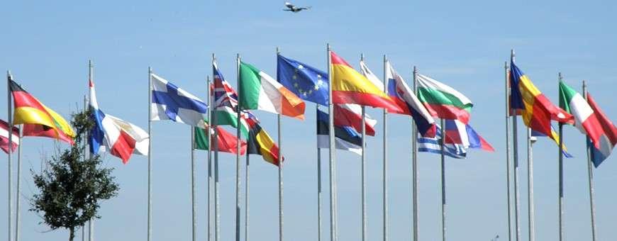 Pavillons et drapeaux d'Europe et des pays d'Europe