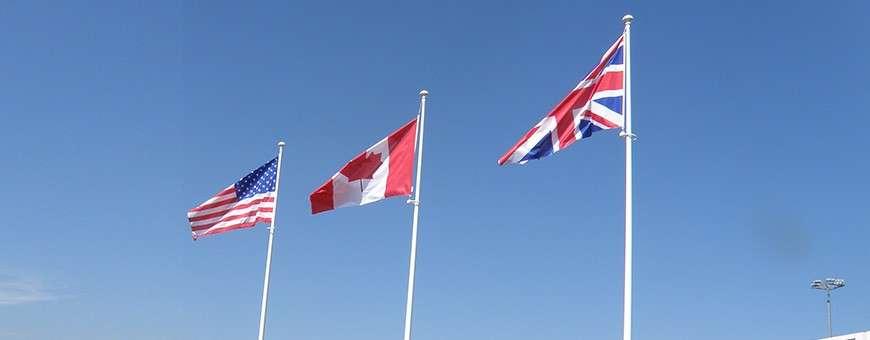 Pavillons et drapeaux des pays du monde