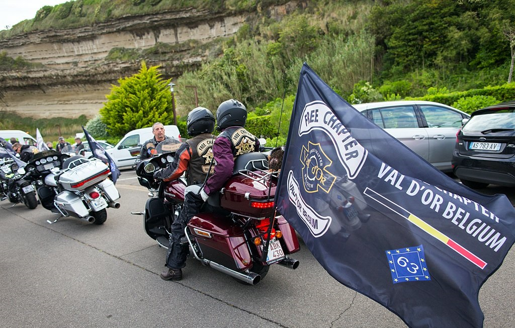 drapeaus personnalisés motos
