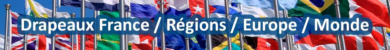 Vente drapeau Français, régional, européen