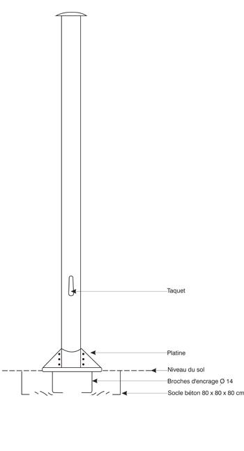 Mat drapeau - embase type B