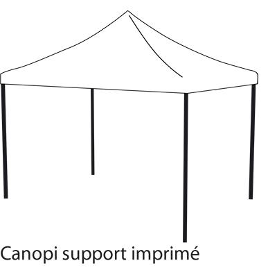 Canopi support imprimé