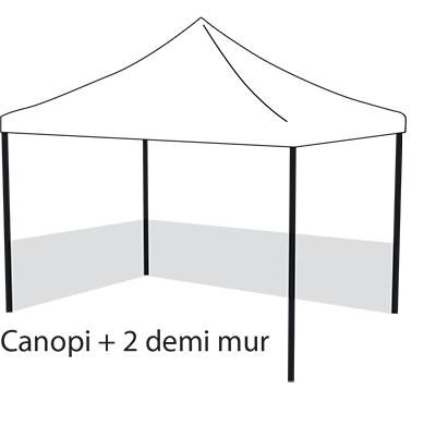 Canopi + 2 demi mur