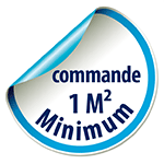 Commande 1m² minimum